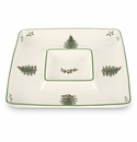 Spode Christmas Tree Square Chip & Dip Set
