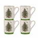 Spode Christmas Tree Stacking Mugs Set of 4