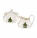 Spode Christmas Tree Sugar Bowl & Creamer Set