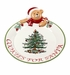 Spode Christmas Tree Teddy Bear Cookies for Santa Platter