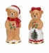 Spode Christmas Tree Teddy Bear Salt & Pepper Set
