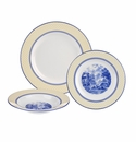 Spode Giallo 3 Piece Dinnerware Set - Dinner Plate, Salad Plate, Cereal Bowl