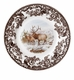 "Spode Woodland American Wildlife Collection Winter Scenes 10.5"" Dinner Plate - Elk"