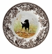 "Spode Woodland Hunting Dogs 8"" Salad Plate - Labrador Retriever (Black)"