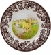 "Spode Woodland Hunting Dogs 8"" Salad Plate - Labrador Retriever ( Yellow)"