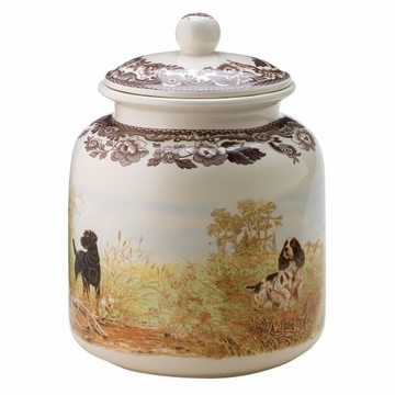 Spode Woodland Dog Treat Canister