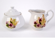 Spring Pansies Porcelain Sugar and Creamer Set