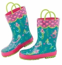 Stephen Joseph All Over Print Child's Rainboots Mermaid