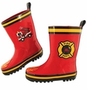Stephen Joseph Child's Rainboots Firetruck