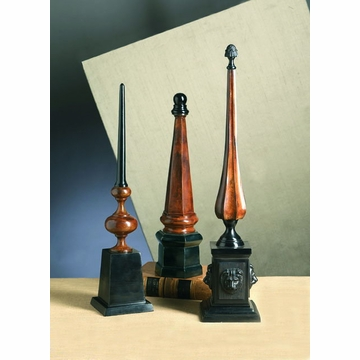 Dessau Home Stone Bronze Finish Architectural Finial with Base Home Decor