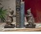 Dessau Home Stone Bronze Sumo Wrestler Bookend Pair Home Decor