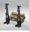 Stylistic Cast Iron Dog Andirons (2pc. Set) by Cyan Design