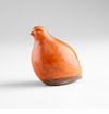 Stylized Ceramic Orange Partridge Sculpture by Cyan Design