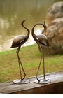 Stylized Garden Heron Pair Sculpture by SPI Home