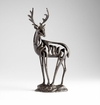 Stylized Iron Deer Buck Sculpture by Cyan Design