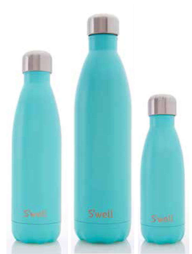 Swell turquoise blue water bottle 25oz for Swell water bottle 25oz