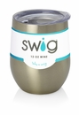 Swig 12 Oz Stemless Wine Cup Gold