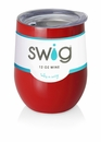Swig 12 Oz Stemless Wine Cup Red