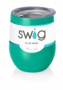 Swig 12 Oz Stemless Wine Cup Turquoise