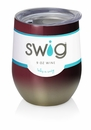 Swig 12 oz Stemless Wine Glass Ombre Maroon/Gold