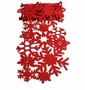 Tag Snowflake 60 inch Felt Table Runner