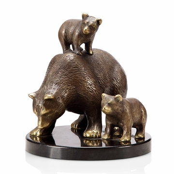 Tahoe Trio Bear And Cubs Sculpture by SPI Home