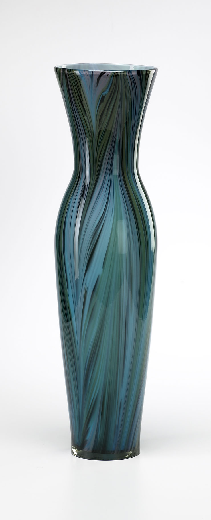 tall peacock glass vase by cyan design. Black Bedroom Furniture Sets. Home Design Ideas