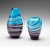Tall Turquoise & Purple Glass Vase - Callie by Cyan Design