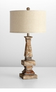 Tashi Limed Wood Table Lamp by Cyan Design