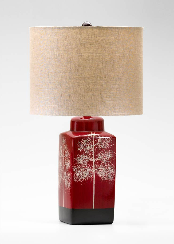 Thomas Red Ceramic Table Lamp By Cyan Design