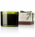 Thymes Frasier Fir 3-wick Poured Candle Green Glass