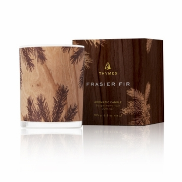 Thymes Frasier Fir Candle Wood Design