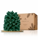 Thymes Frasier Fir Large Molded Pinecone Candle