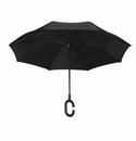 Topsy Turvy Inverted Reversible Umbrella Black with Black