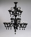 Treviso 12 Light Black Chandelier by Cyan Design