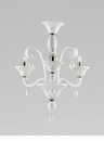 Treviso 3 Light White Glass Chandelier by Cyan Design