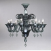 Treviso 8 Light Indigo Smoke Glass Chandelier by Cyan Design
