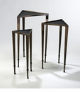 Triangle Ebony & Mahogany Nesting Tables by Cyan Design