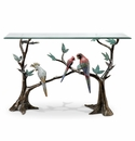 Tropical Bird Flock Console Table by SPI Home