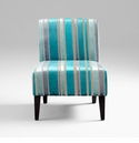 Turquoise Blue Striped Chair by Cyan Design