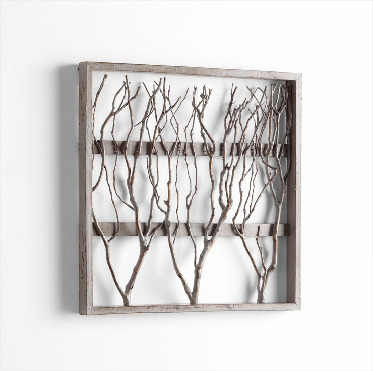 Wall Decor Wooden : Twigs framed wood wall decor by cyan design