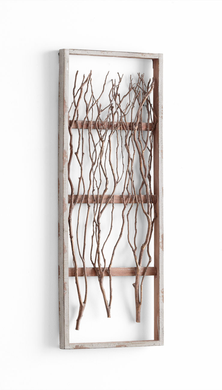 Twigs tall framed wood wall decor by cyan design for Wall accessories