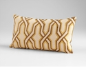 Twist & Turn Yellow Decorative Pillow by Cyan Design