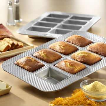 USA Pan - Mini Loaf Panel Pan (8 Well)