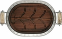 Vagabond House Carving Board Small - Pewter Leaf