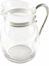 Vagabond House Glass Pitcher with Pewter Accents - Curved - Classic - Large
