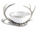 Vagabond House Pewter Antler Rack Acorn Bowl