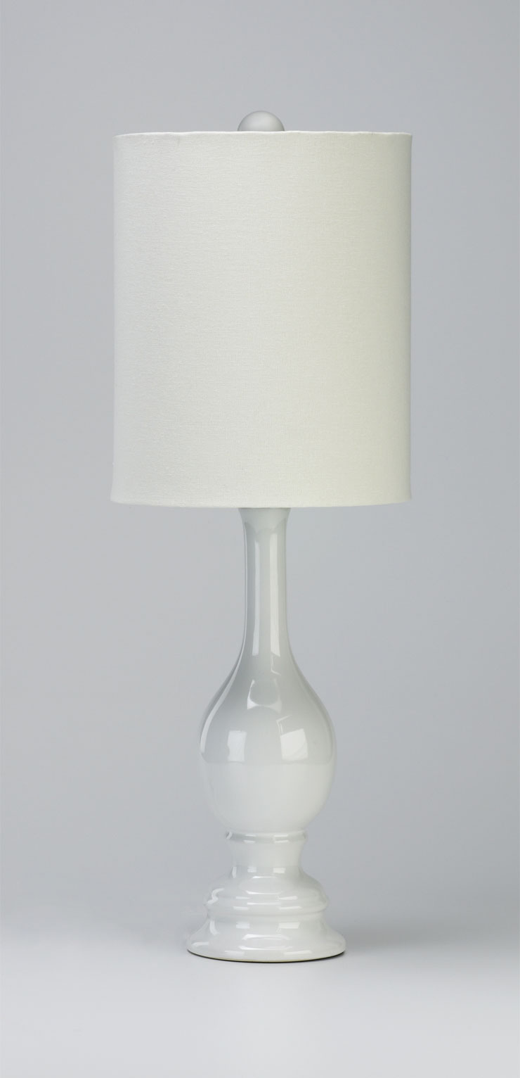 Vase White Glass Table Lamp By Cyan Design