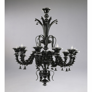 Venetian Black 10 Light Chandelier by Cyan Design
