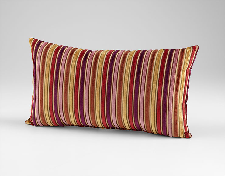 Vibrant Strip Purple Decorative Pillow by Cyan Design